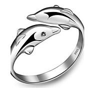 Жен. Классические кольца манжета кольцо Регулируется Симпатичные Стиль Мода бижутерия Стерлинговое серебро В форме животных Бижутерия