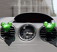2pcs Random Mickey Mouse Shape Fragrance Car Vent Air Freshener Outlet Perfume