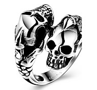 Ring Fashion Party Jewelry Steel Women Statement Rings 1pc,One Size Black