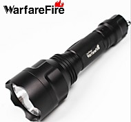 Warfarefire®5 Mode LED Flashlights / Handheld Flashlights 18650Adjustable Focus / Rechargeable / Impact Resistant /