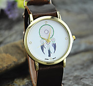 Ladies' New Fashion Leather Dreamcatcher No Digital Wrist Watch