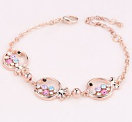High Quality Crystal Silver Plated Lovely Fish Chain &Link Bracelet