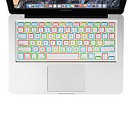 XSKN noche de silicona luminosa cubierta del teclado del ordenador portátil para el aire del macbook 13, MacBook Pro con retina 13 15 17,