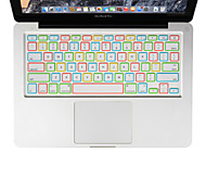 XSKN noite silicone luminoso tampa do teclado para laptop MacBook Air 13, MacBook Pro com retina 13 15 17, nos de layout