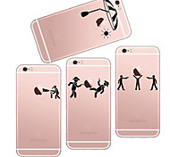 MAYCARI®Playing Games Soft Transparent TPU Back Case for iPhone 6/iphone 6S(Assorted Colors)