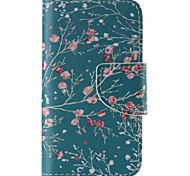 Apricot Tree Painted PU Phone Case for iphone4/4S