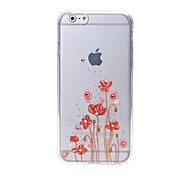 Latest  Flower Pattern Swarovski Diamond High Quality Laser Relief Touch Phone Case for iPhone 6plus / 6S plus