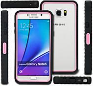 pc baisse cas de résistance stent en silicone avec support repassent jet pour Samsung Galaxy Note 5 de couleur assortie