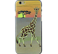 a girafa ea árvore de alta qualidade e bom estojo rígido padrão de preço para iphone 6 / 6s