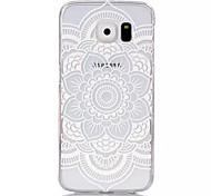 Lace Datura Pattern Printed Transparent PC Material Phone Case for Samsung Galaxy S3mini /S4mini/S5mini/S5/S6/S6edge