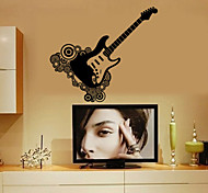 Wall Stickers Wall Decals, Guitar PVC Wall Stickers