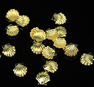 20Pcs Popular Aluminum Shell DIY Metal Scallop Patch Gold And Silver Shells Decorated 3mm5mm (Random Delivery)