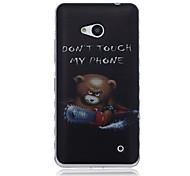 não toque meu padrão de telefone TPU macio para nokia 640