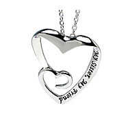 Personality English Heart-Shaped Pendant Necklace