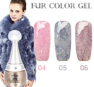 1PCS KOUYI Fur Color Gel 12Colors Long Lasting Nail Polish 4-6