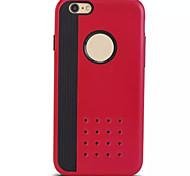 tampa magro armadura resistente telemóvel de volta Cases para iPhone 6 mais (cores sortidas)