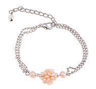 Fashion Natural Pearls Of Small Ball Chain Bracelet