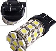 2*Car 7443 7440 T20 Tail Brake Bulb Lamp 5050SMD White 27 LED Light 12V 2.5W 250LM