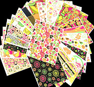 1Set 3D nail stickers bare fluorescent color full page naked mix gilt edges(10 models / sets)