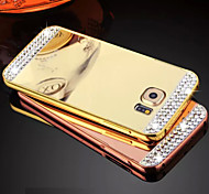 Diamond High Quality Protective Metal Bumper Frame with Back Cover for Galaxy S6/Galaxy S6edge(Assorted Colors)