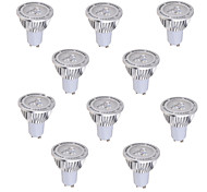 10 pcs GU10 5 W 3*COB 450 LM Warm White / Cool White MR16 Decorative Spot Lights AC 85-265 V