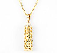 Fashion Vertical Bar Shape Golden Alloy Pendant Necklace(1 Pc)