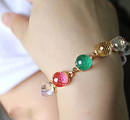 Fashionable Alloy Muiticolor Glass Beads Women Bracelet Jewelry (1PC)
