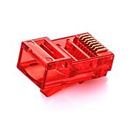 shengwei® rc-3030 multicolor RJ45 Cat5e Stecker 30pcs für Internet-Verbindungsschnittstelle (rot, blau, grün, orange)