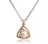 Hot Sale New Fashion Jewelry Classic Casual Personality Statement Bohimian Pearl Pendant Necklace for Women Gift