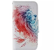 Lion Head Painted PU Phone Case for iphone5/5S