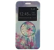 o novo padrão de cartão de aleta campanula pu material de couro caso de telefone janela para Samsung Galaxy J1 / j1ace / j2 / J5