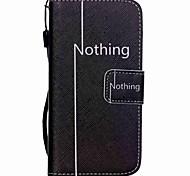 modello hzbyc®nothing cassa di carta PU cordicella per iphone 5 / 5s