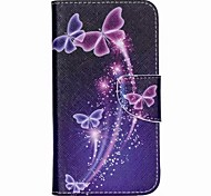 Colored Butterflies Painted PU Phone Case for Wiko Lenny 2