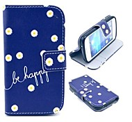 For Samsung Galaxy Case Card Holder / Wallet / with Stand / Flip / Pattern Case Full Body Case Flower PU Leather Samsung Style Duos