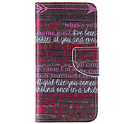 The New Red Letters PU Leather Material Flip Card Cell Phone Case for iPhone 6 /6S