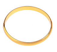 Fashion Brief Gold Plated Glossy Bracelet
