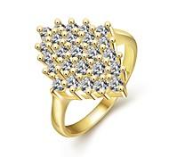 Statementringe Zirkon Kubikzirkonia vergoldet Rose Gold überzogen Modisch Golden Gold/Rosa Schmuck Hochzeit Party Alltag 1 Stück