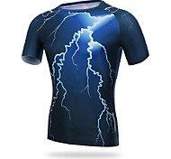 Men's Cycling Tops Short Sleeve Bike Breathable / Ultraviolet Resistant / Sweat-wicking / CompressionDark