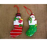 um marido e uma meia natal boneco de neve macios combinação acessórios 2 peças