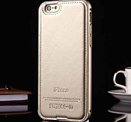 New Luxury Genuine Leather Case for Metal Integrated Frame Case for Apple iPhone 5/5S(Assorted Colors)