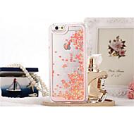 For iPhone 7 Plus Liquid Glitter Romantic Love Case Transparent Hard Case For iphone 5/5S Cases