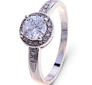 Europe Style  Crystals Delicate Cz Drill Ring