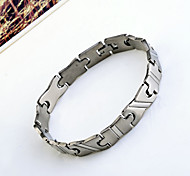 "Fashion Men'S ""H' Pattern Titanium Steel  Bracelet"