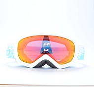 BASTO White Frame Red Sensor Skiing Snow Goggles for Kids