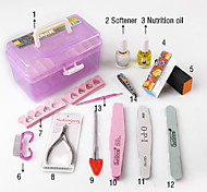 14 PCSNail Art Care Tool Polish Kits and Nail Tool Box