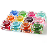 12PCS Mixed Color Pure Color Transparent UV Builder Gel UV Color Gel Polish Set Nail Art Decoration(8ML)