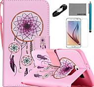 coco Fun® windbell Muster PU-Leder Fall v8 USB-Kabel Folie und Stift für Samsung Galaxy S6 / S6 Rand / S6 Rand Plus