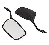 Pair Motorcycle Motorbike Side Rear View Mirror Black 10mm