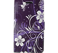 White Flower Painted PU Phone Case for iphone5/5S