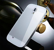 Two-in-one KX Brand Metal Frame Acrylic Mirror Backplane Metal Hard Case for Samsung Galaxy S4